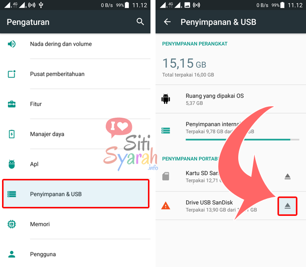 Cara Eject OTG di HP Android