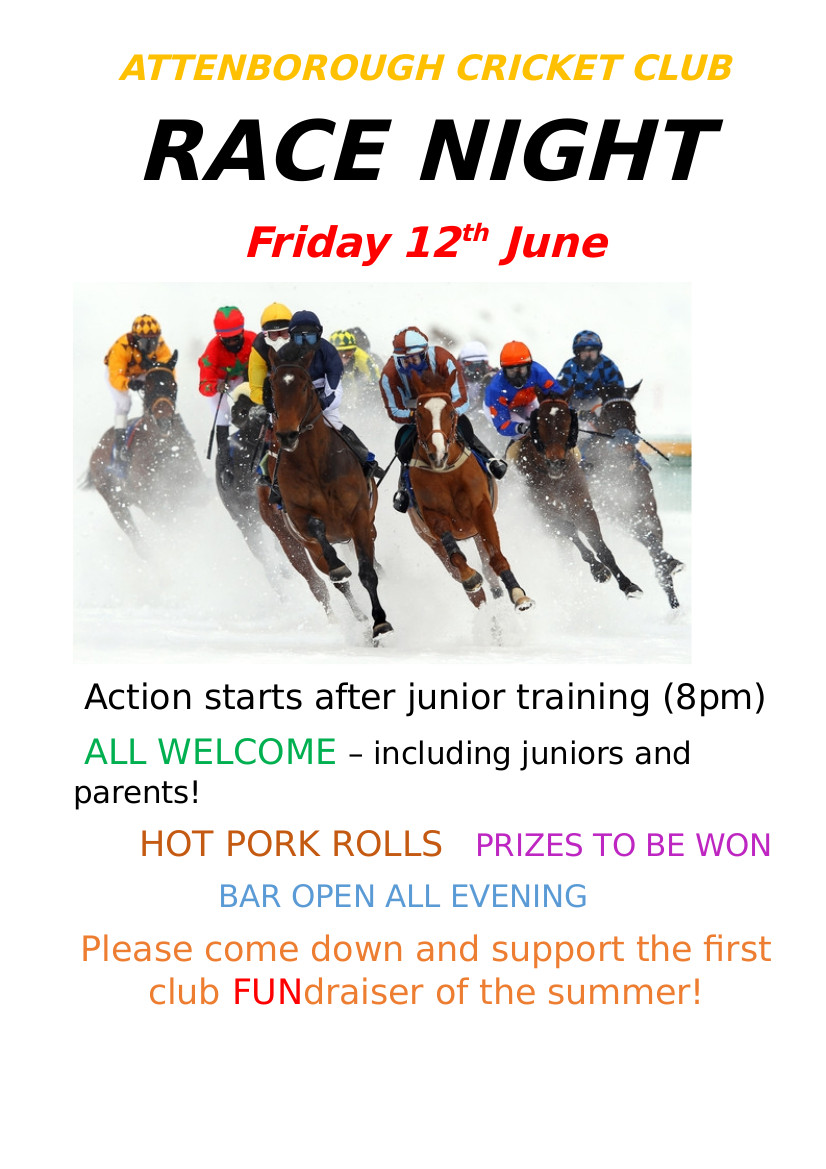Race Night Friday June 12th