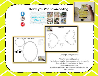 https://www.teacherspayteachers.com/Product/Free-Bee-Craft-Printable-2444644