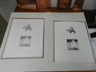 En el taller de Hugo Besard firmando la edición Caballito para Kunst in de Stad, Patricia Delgado