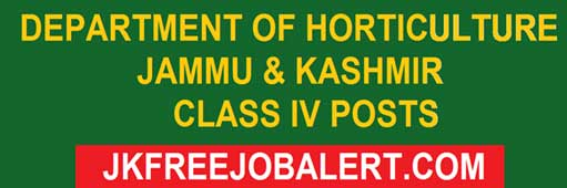 Fresh Class IV Posts Recruitment 2018