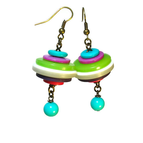 BluKatKraft: Handmade Button Jewelry By BluKatDesign On Etsy