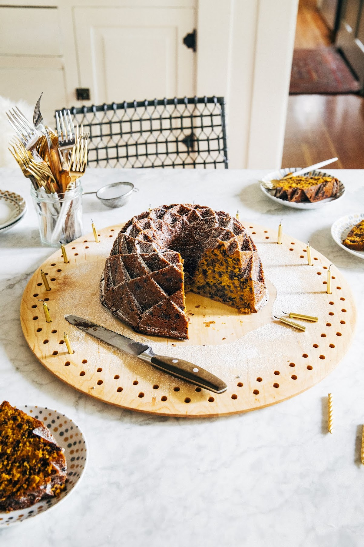pumpkin tonka bundt cake