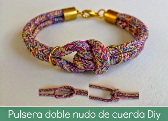 pulsera, nudos, macrame, colores, cuerda, bisutería