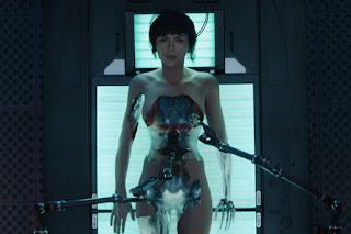 Escena de Ghost in the Shell con Scarlett Johansson