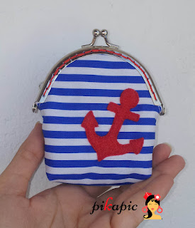Monedero estilo Marinero o Navy Pikapic