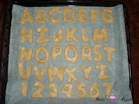 Galletas de mantequilla para hornear con forma de letras