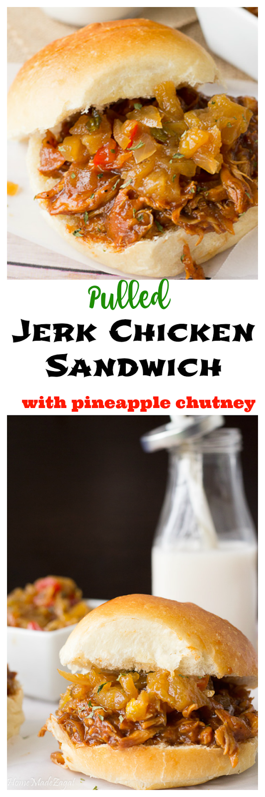 Pulled Jerk Chicken Sandwich - A combination of savory and spicy slow ...