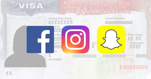 US visa application social media