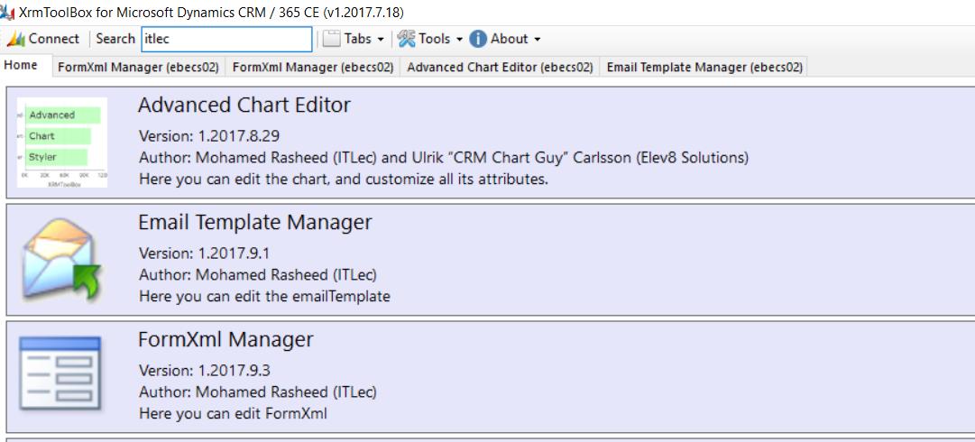 FormXml Manager For Dynamics 365 CRM, XrmToolBox | Information
