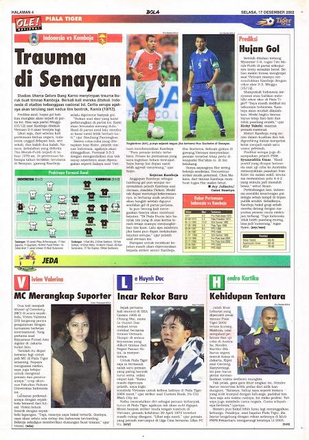 PIALA TIGER INDONESIA VS KAMBOJA