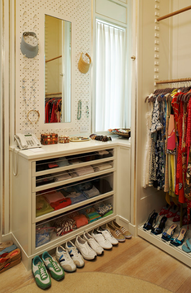 Simply buy some matching pegs or hooks and you have instant storage space for accessories.