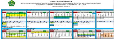 Download Kalender Pendidikan RA/Madrasah TP. 2016/2017 Provinsi Jawa Barat
