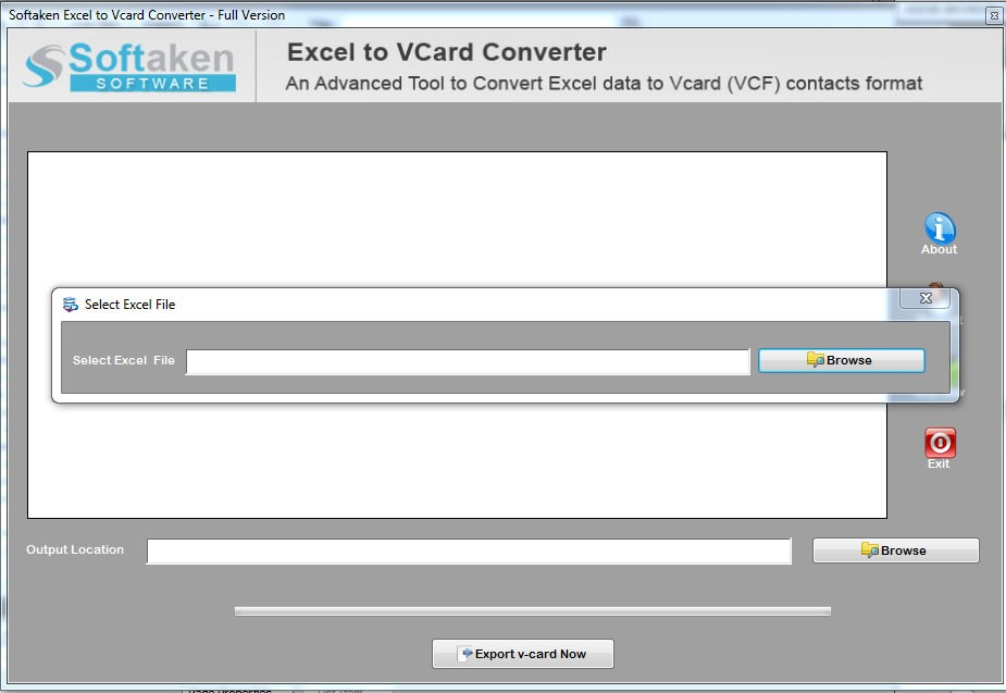 Excel to VCF Converter to Export Excel Contacts to vCard