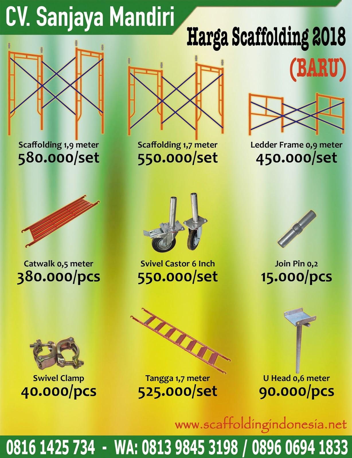 harga scaffolding baru