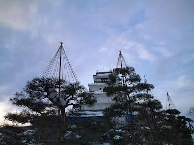 雪の後の「鶴ヶ城」訪問時
