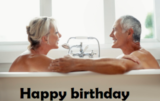60th birthday images for him - romantic bath