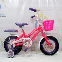 Sepeda Anak Wimcycle Rapunzel CTB 12 Inci Lisensi