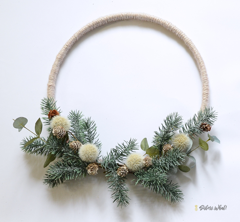 modern simple pine christmas wreath