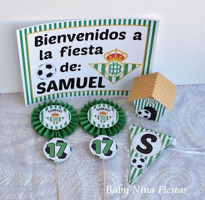 kit cumpleaños fútbol Betis