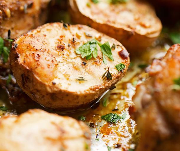 One Sheet Pan Roasted Za'atar Chicken and Potatoes