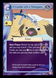 My Little Pony A Cuddle with a Pekingese Absolute Discord CCG Card
