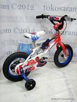 3 Sepeda Anak Wimcycle Spiderman 12 Inci