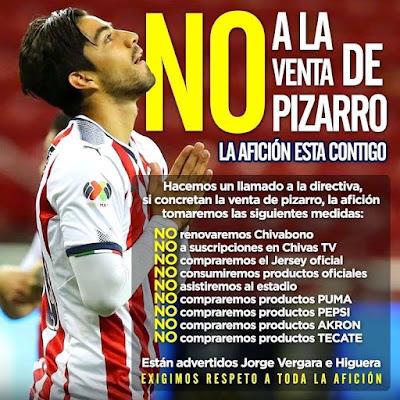 Pizarro fuera de Chivas