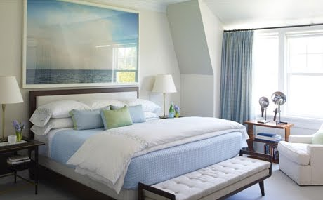 steven gambrel ocean art in bedroom