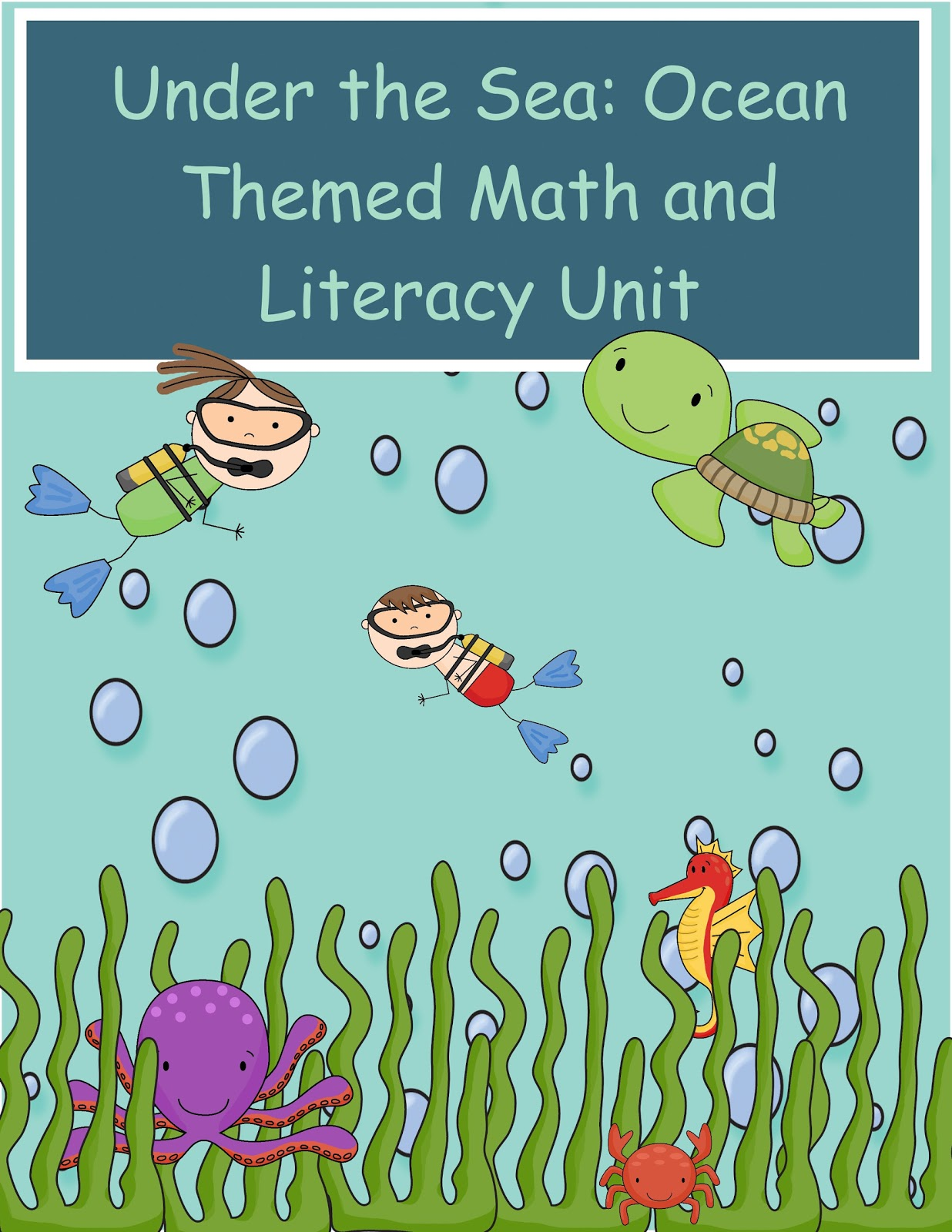 The Crazy Pre K Classroom Under The Sea Ocean Themed Math And Literacy Unt