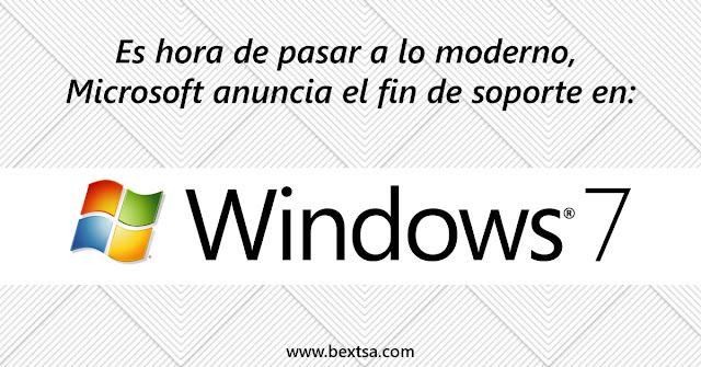 Es el fin del soporte de Windows 7