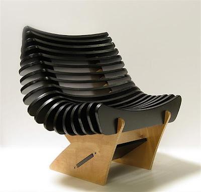 Diseño industrial de sillón y mecedora