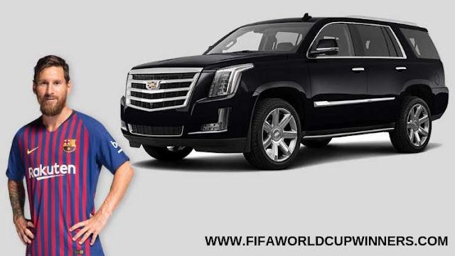 Messi+Car+Collection+Cadillac+Escalade