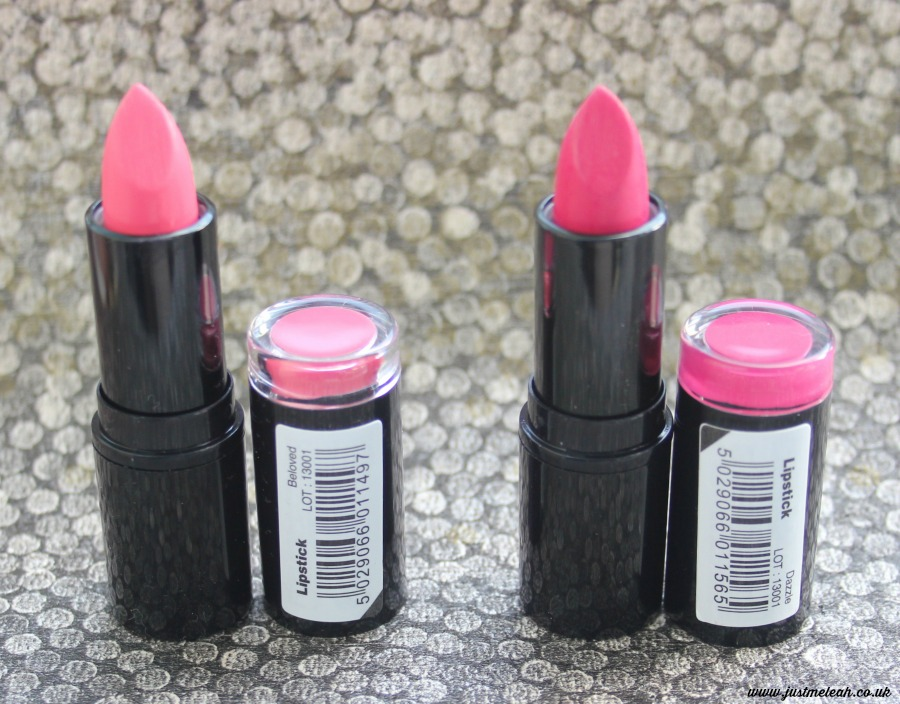 Makeup Revolution £1 pink lipsticks in Beloved & Dazzle