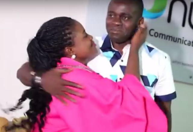 Ohemaa Mercy Kisses Husband