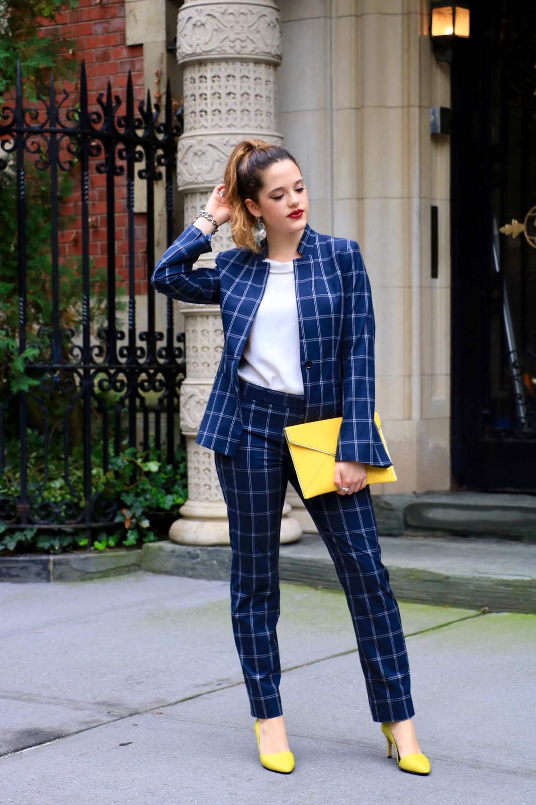 Nyc fashion blogger Kathleen Harper's plaid outfit
