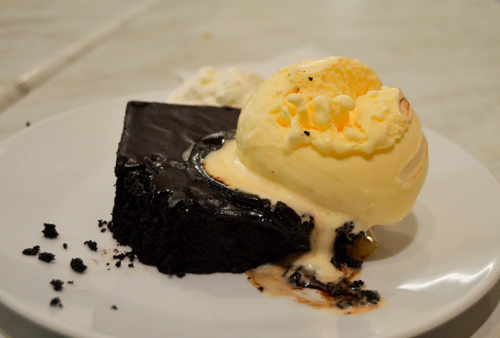 Chocolate Brownie & Ice Cream Free Stock Photos