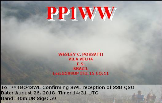 Wesley C Possatti PP1WW