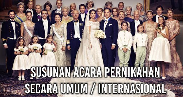 Susunan Acara Pernikahan Secara Umum / Internasional