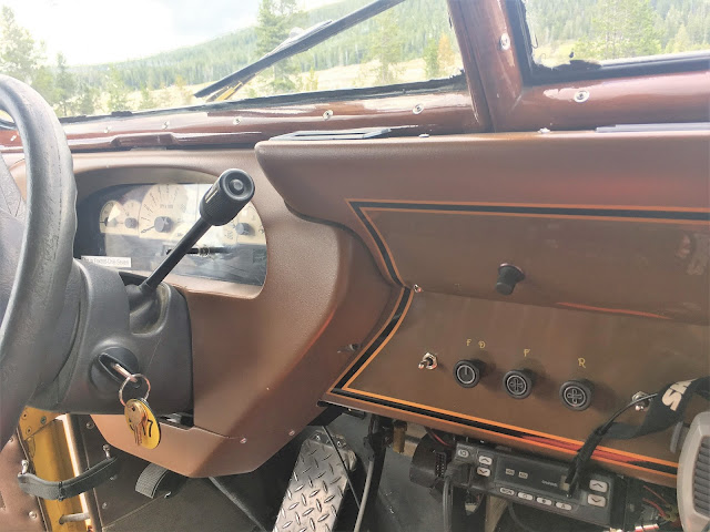Instrument panel of refurbished 1937 White Yellowstone National Park Motor Coach