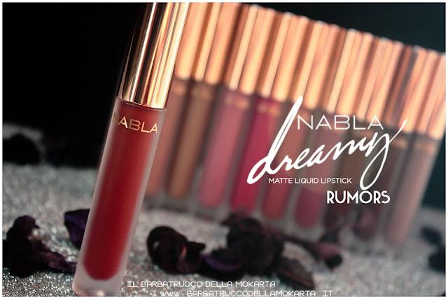 Rumors Dreamy Matte Liquid Lipstick rossetto liquido nabla cosmetics