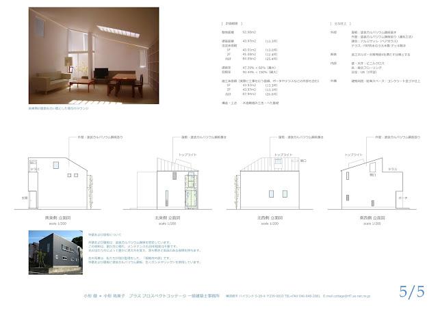 旗竿地に建つ光と風に包まれるライブラリーのある住まい 外観の計画