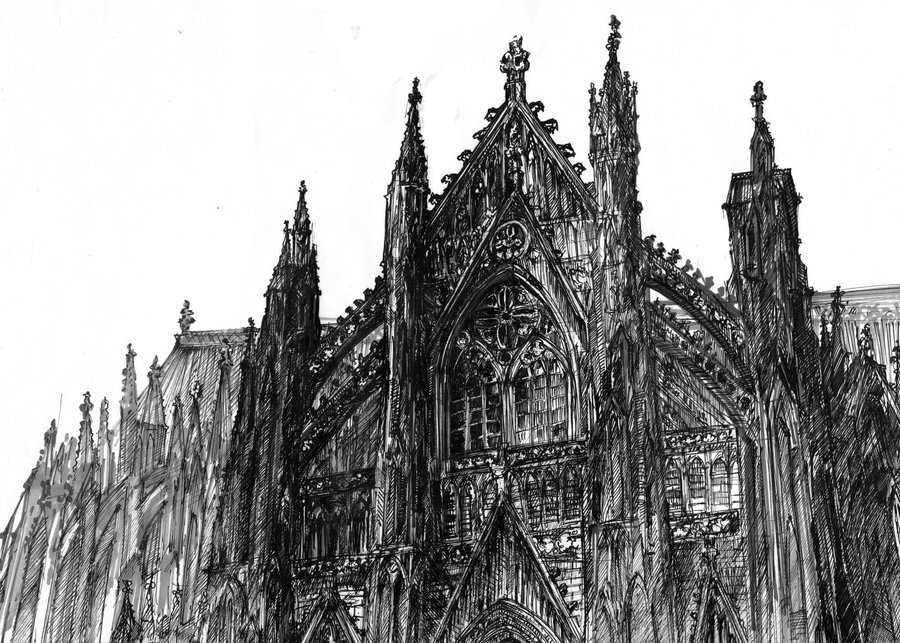 10-Beauvais-Cathedral-Monika-Domaszewska-Ghosted-Architectural-Drawings-www-designstack-co