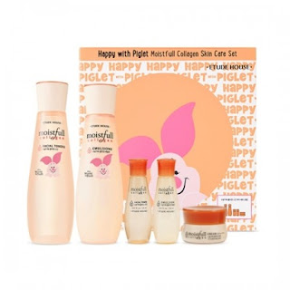 Etude House - Happy with Piglet Moistfull Collagen Skin Care Set