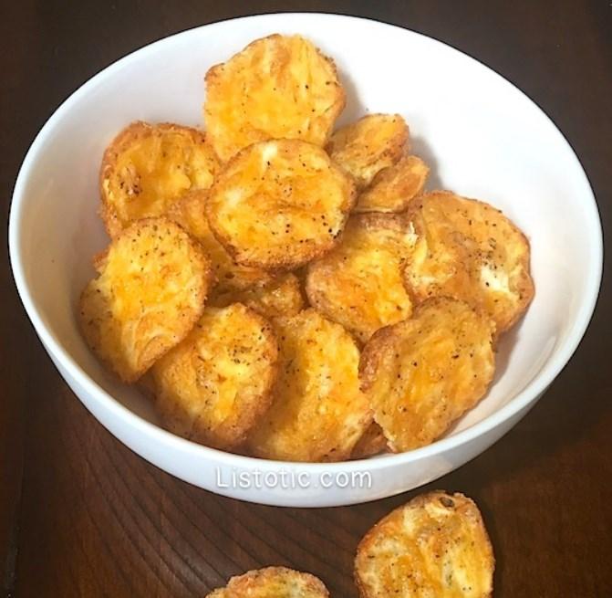 2 Ingredient Low Carb Chips #healthysnack #dietrecipe