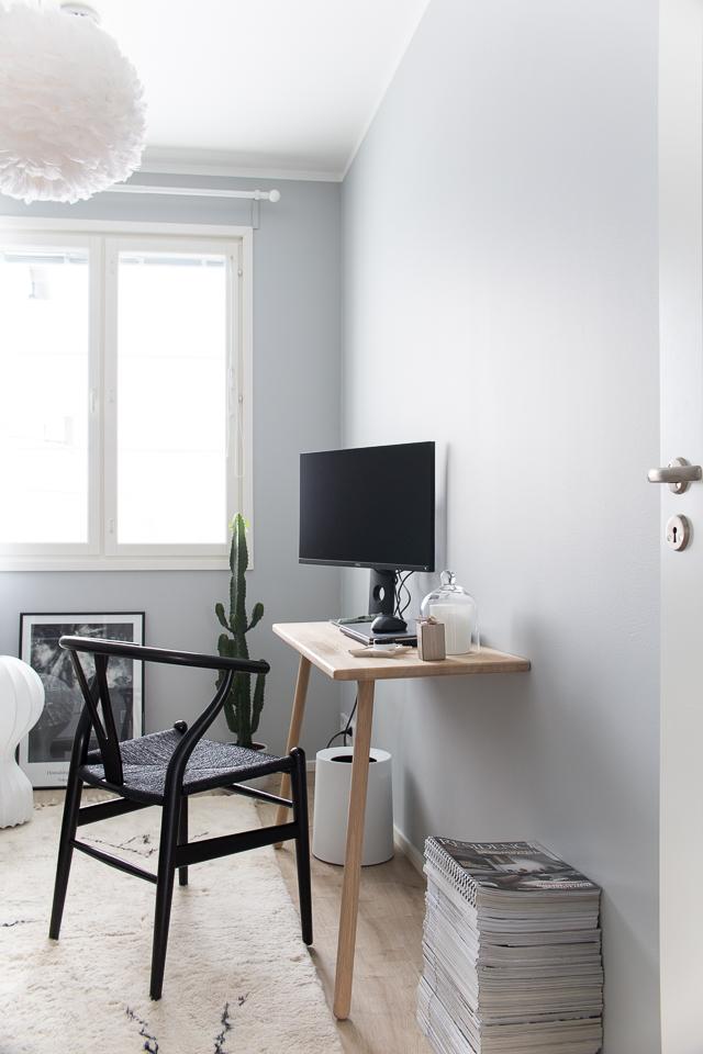 y-tuoli, skagerak työpöytä, työhuoneen sisustus