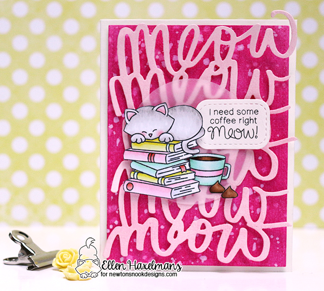 Coffee Card by Ellen Haxelmans featuring Newton Loves Coffee, Newton's Book Club, Love and Chocolate by Newton's Nook Designs, #newtonsnook