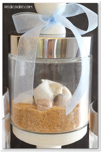 Perfect summer decorating idea using cute Apothecary Jars #summer #decorating #ApothecaryJars