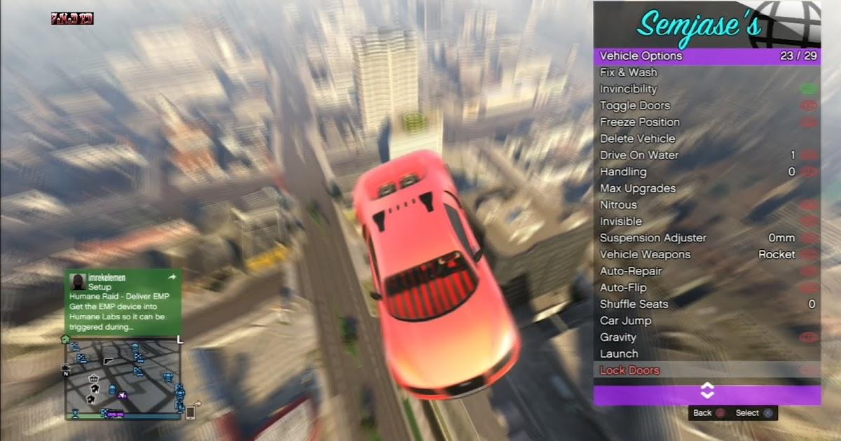 GTA 5 Semjases Mod Menu Free Download - مود منيو قراند 5