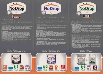 Waterproofing No Drop Bitumen Black, No Drop, dan No Drop 100